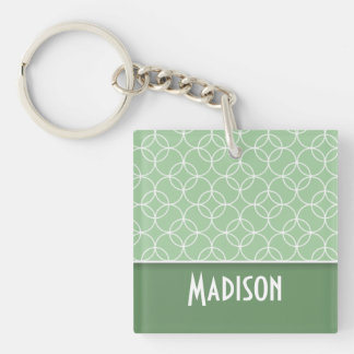 Sage Green Circles Acrylic Keychain