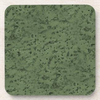 Sage Green Cork Look Wood Grain Coaster