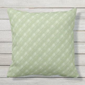 Sage Green Cream Diagonals Outdoor Pillow 20x20