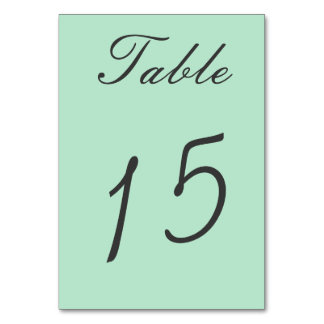 Sage Green Double Sided Table Number Cards Table Cards
