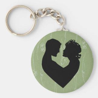 Sage Green Love Basic Round Button Keychain