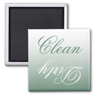 Sage Green Ombre Dishwasher Clean/Dirty Magnet