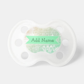 Sage Green  Personalized Baby Pacifier