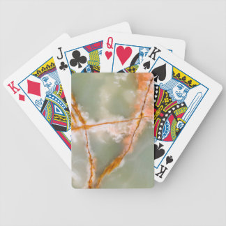 Sage Green Quartz with Rusty Veins Bicycle Playing Cards