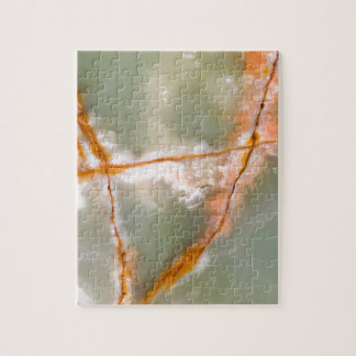 Sage Green Quartz with Rusty Veins Jigsaw Puzzle