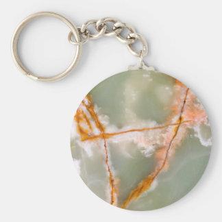 Sage Green Quartz with Rusty Veins Keychain