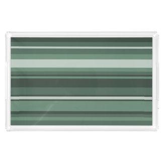 Sage green stripes perfume tray
