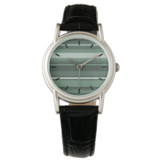Sage green stripes wristwatch