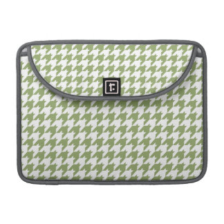 Sage Green & White Houndstooth Sleeve For MacBooks