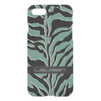 Sage Green Zebra Animal Print iPhone 7 Case