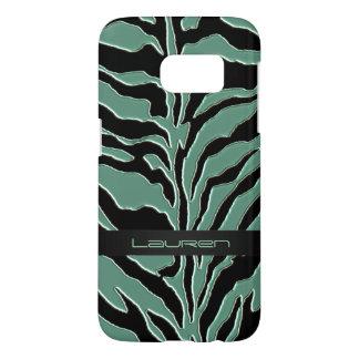 Sage Green Zebra Animal Print Samsung Galaxy S7 Case