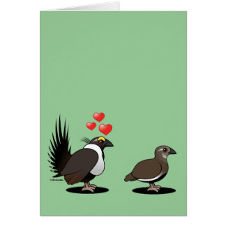 Sage Grouse Love Card