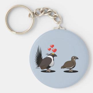 Sage Grouse Love Keychain