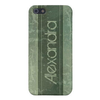Sage Grunge Marble Distressed iPhone 5/5S Cases