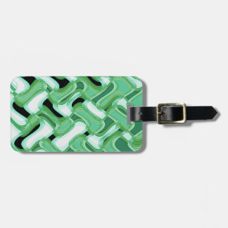 Sage & Ivory Luggage Tag with Leather Strap