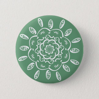 Sage Mandala 2 Inch Round Button