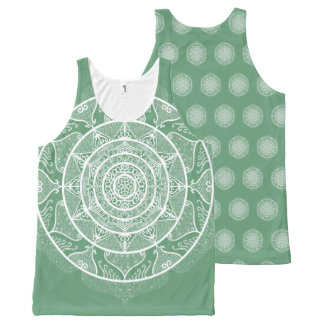 Sage Mandala All-Over-Print Tank Top