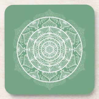 Sage Mandala Coaster