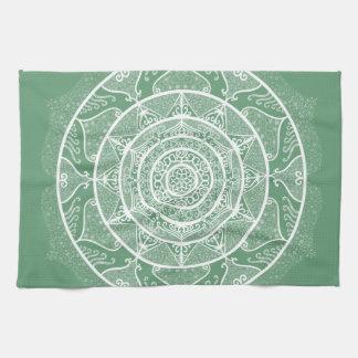 Sage Mandala Kitchen Towel