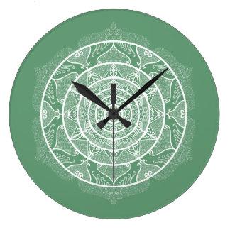 Sage Mandala Large Clock
