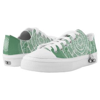 Sage Mandala Low-Top Sneakers
