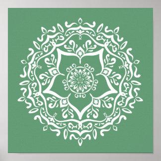 Sage Mandala Poster