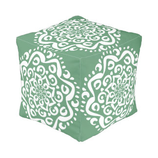 Sage Mandala Pouf