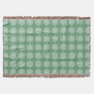 Sage Mandala Throw Blanket