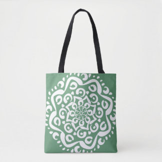 Sage Mandala Tote Bag