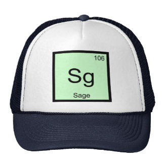 Sage Name Chemistry Element Periodic Table Trucker Hat