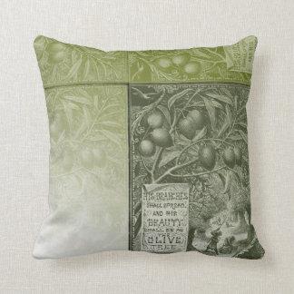 Sage Olive Tree Throw Pillow