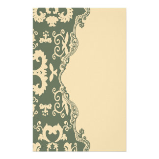 sage paisley vintage western country wedding stationery paper
