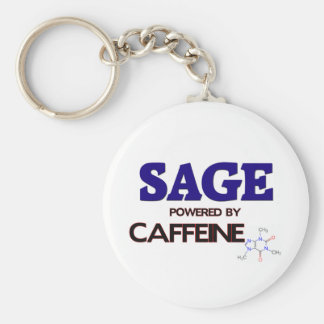 Sage Powered by caffeine Key Chains