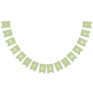 Sage Solid Color Customize It Bunting Flags