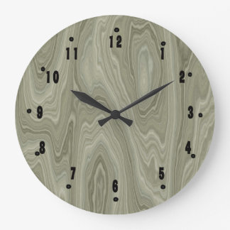 Sage Wood by Julie Everhart Large Clock