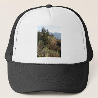 Sagebrush and mountains trucker hat