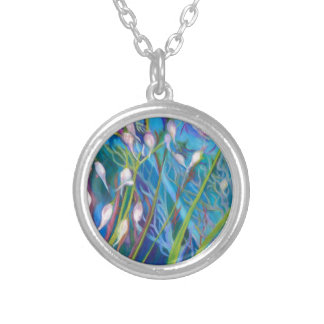 Sagebrush Sanctuary with Wild Grass Silver Plated Necklace