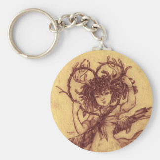 Sage's Valentine, Basic Round Button Keychain