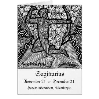 Sagittarious  (Zodiac sign) Card