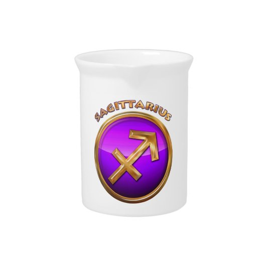 Sagittarius Astrological Sign Pitcher