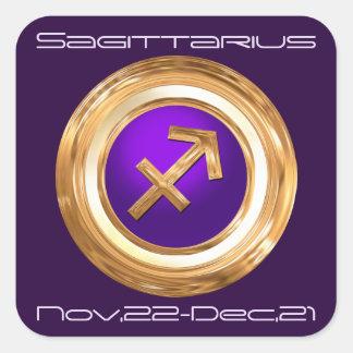 Sagittarius Astrological Sign Square Sticker