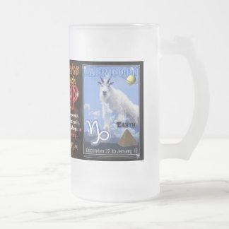Sagittarius Capricorn zodiac tall glass Frosted Glass Beer Mug