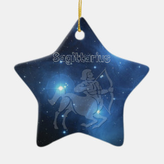 Sagittarius Ceramic Star Ornament