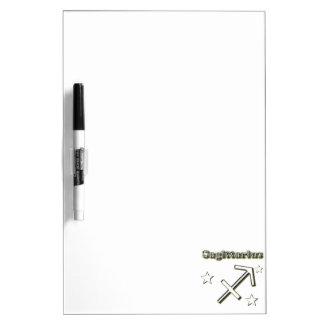 Sagittarius chrome symbol dry erase board