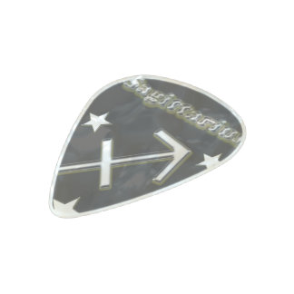 Sagittarius chrome symbol pearl celluloid guitar pick