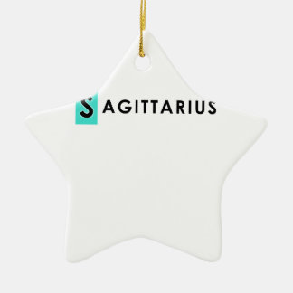 SAGITTARIUS COLOR CERAMIC STAR ORNAMENT