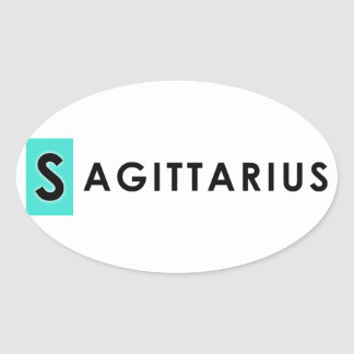 SAGITTARIUS COLOR OVAL STICKER