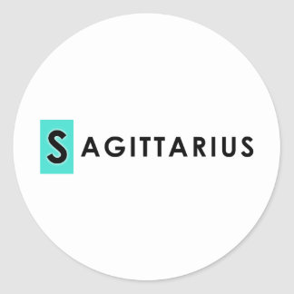 SAGITTARIUS COLOR ROUND STICKER