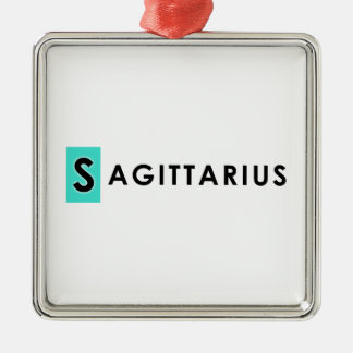 SAGITTARIUS COLOR Silver-Colored SQUARE ORNAMENT