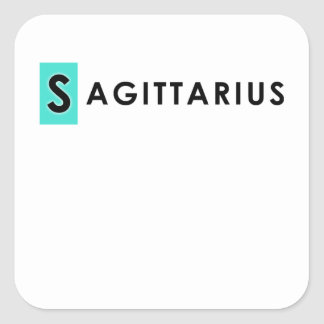 SAGITTARIUS COLOR SQUARE STICKER
